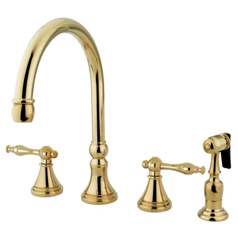 kitchen faucets brass kingston brass ks2792nlbs governor 8 quot deck mount kitchen