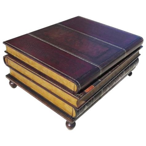 stacked books table l leather stacked books coffee table by maitland smith at