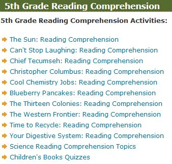 printable reading games for 5th grade fifth grade language skill builders reading comprehension