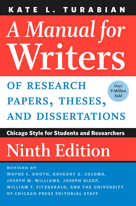 manual for writers of term papers theses and dissertations a manual for writers of research papers theses and