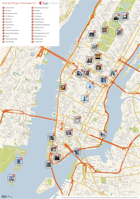 map of manhattan ny new york city manhattan printable tourist map sygic travel