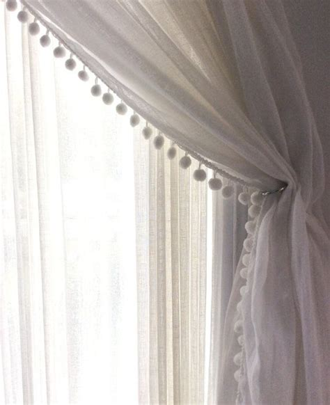 white crinkle sheer curtains 17 best ideas about pom pom curtains on pinterest window