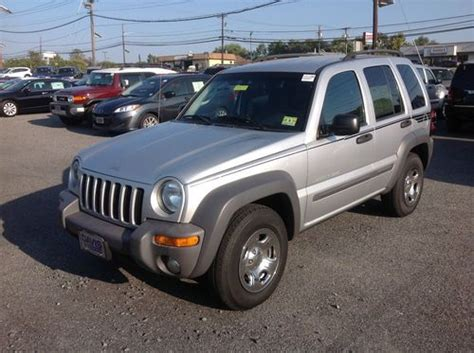 Jeep Liberty 4 Wheel Drive Find Used 2003 Jeep Liberty Sport Suv Silver Gray 4wd Four