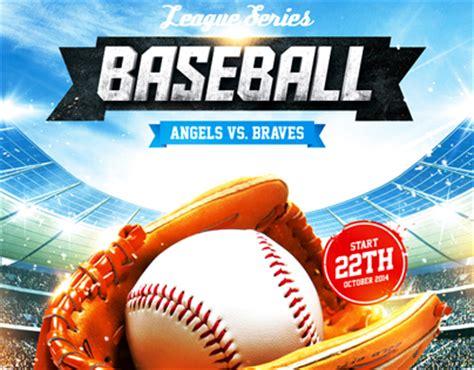 Baseball League Series Flyer Psd Template On Behance Baseball League Website Template
