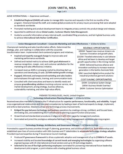 great resumes fast executive resume sles professional resume sles