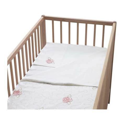 Ikea Baby Crib Bedding Ikea Minnen Brodyr White Pink Crib Duvet Cover Pillowcase Set Nursery Bedding Embroidered