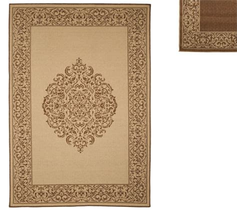 Veranda Living Indoor Outdoor Rug Veranda Living Naturals Indoor Outdoor 5x7 Medallion Reversible Rug Page 1 Qvc