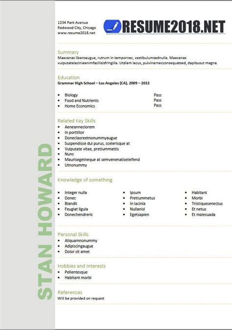 Resume Format 2018 20 Free To Download Word Templates Downloadable Resume Templates 2018