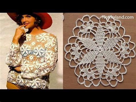 crochet pattern crochet motif for blouse tunic part 2