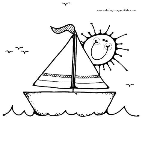 boat cartoon book boat coloring pages for kids quiet book ocean and beach