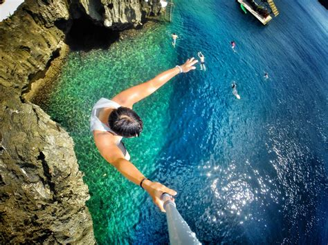 Gopro 4 Resmi cliff jumping in boracay in the philippines with keith mui mount your waterproof gopro