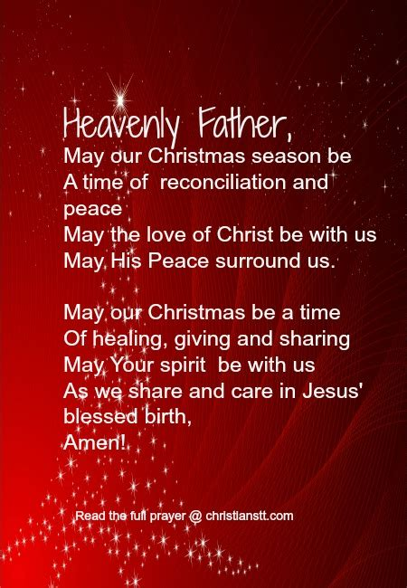christmas invocation prayer a prayer the true spirit of christianstt
