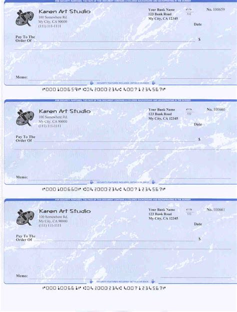 template of a check blank check template free