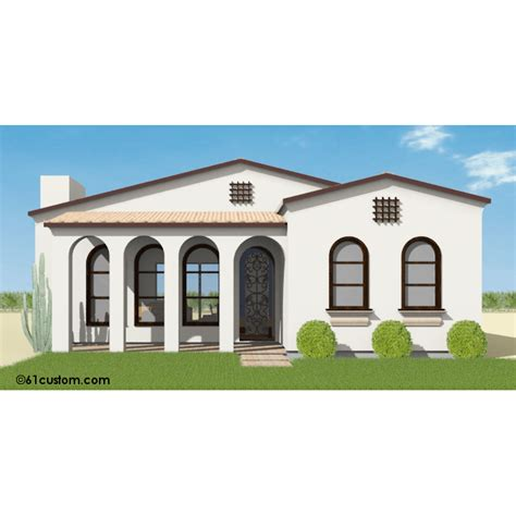small spanish style home plans small spanish contemporary plan