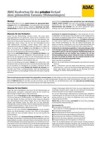 Adac Kaufvertrag Unternehmer An Privat by Adac Kaufvertrag F 252 R Den Privaten Verkauf Eines