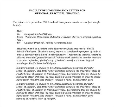 Letter Of Recommendation For College Professor Position letters of recommendation for 28 free sle