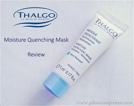 thalgo face masks ~ moisture quenching mask & melt away