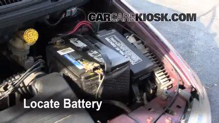 2001 dodge caravan battery battery replacement 1996 2000 dodge caravan 1999 dodge