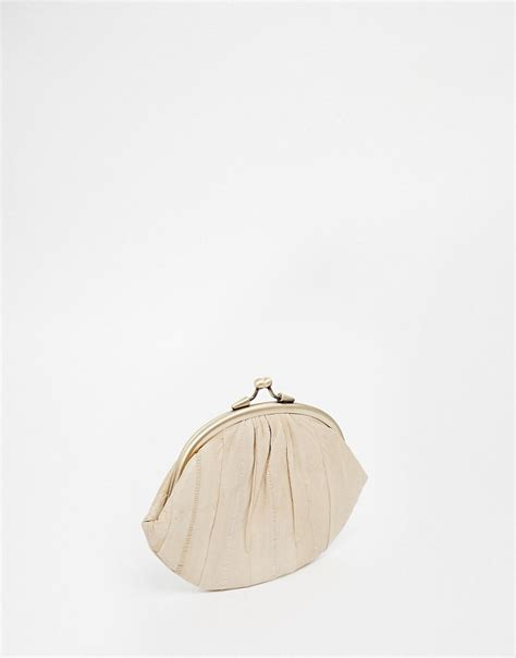 Asos Vintage Style Scarf Clutch by Becksondergaard Becksondergaard Vintage Style Shell Clip