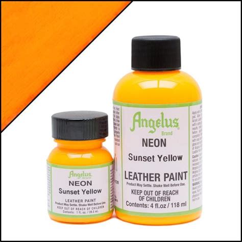 angelus paint thunder yellow angelus neon sunset yellow paint acrylic leather paints