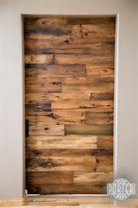 Barn Wood Door Sliding Barn Door 3 Tobacco Barn Wood With Flat Lacquer Finish Contemporary Interior