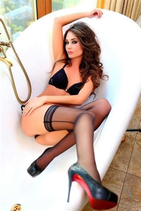 sexy legs in bathtub find more sexy girls in lingerie stockings and heels with
