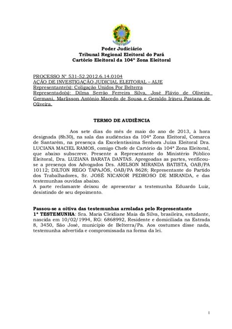 Termo de audiência, processo nº 530-67.2012.6.14.0104