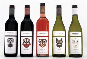 wine label printing two hoots associated labels