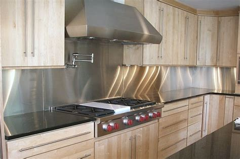 metal backsplashes for kitchens stainless steel solution for your kitchen backsplash inspirationseek