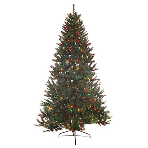 puleo christmas trees puleo international 7 5 foot northern fir pre lit artificial tree with multi lights