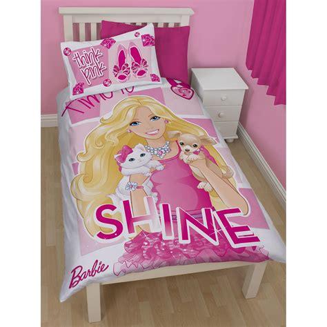 Barbie Aufkleber Set by Barbie Glanz Bettbezug Set Neu Offiziell Bettw 228 Sche Ebay