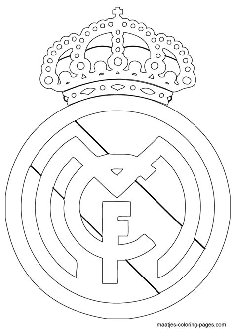 Real Coloring Pages new nike real madrid coloring page coloring pages