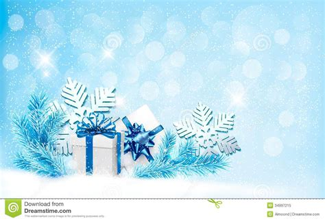 design background gift free download christmas blue background with gift boxes and snow stock