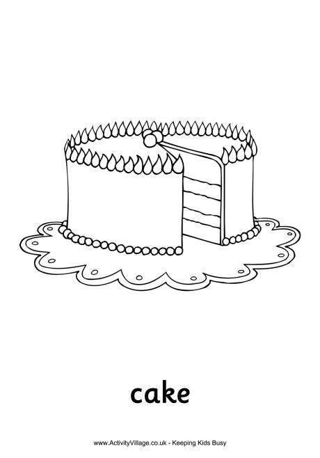 christmas cake coloring page christmascake free colouring pages