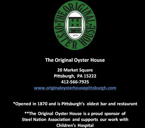 the original oyster house the original oyster house steel nation association