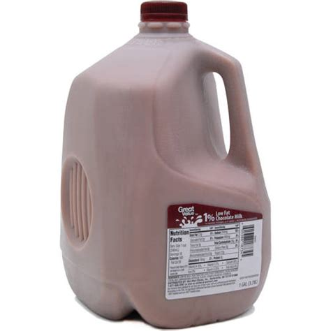 Great Value Low Fat 1% Chocolate Milk, 1 gal   Walmart.com
