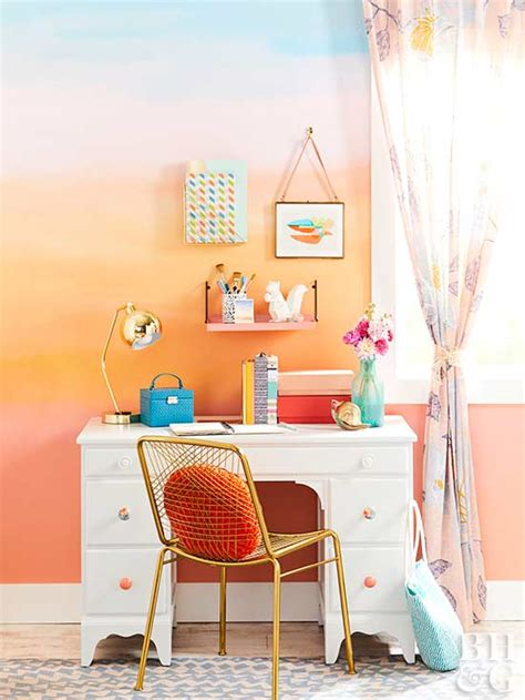 how to paint a sunset on a bedroom wall how to paint a sunset inspired wall treatment