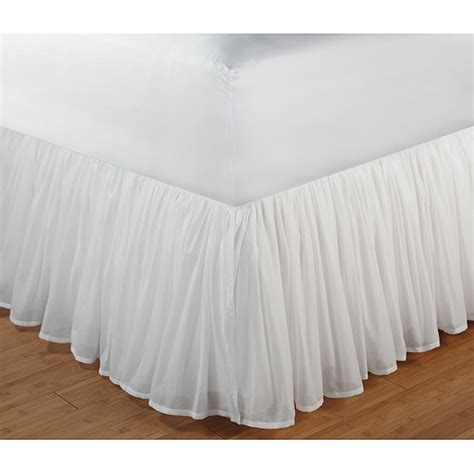 best bed skirt greenland home fashions white sheer 100 percent cotton