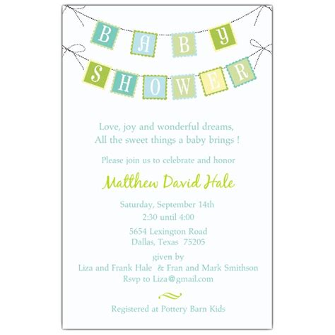sle baby shower invitations wording theruntime