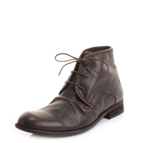 mens fly watt brown vintage distress lace up