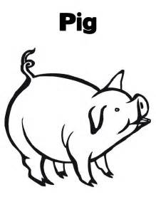 printable pig az coloring pages