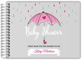 the pink umbrella books baby shower guestbook custom baby shower guest book
