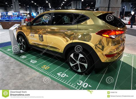 hyundai nfl football car editorial photo image 65885756