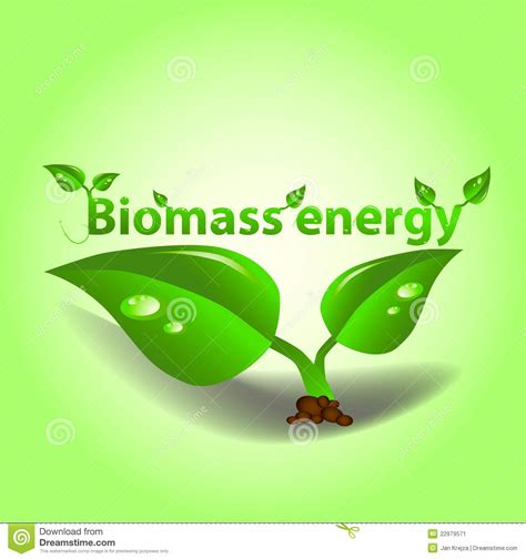 Green Plans by Biomass Energy Stock Vector Illustration Of Green Material 22979571
