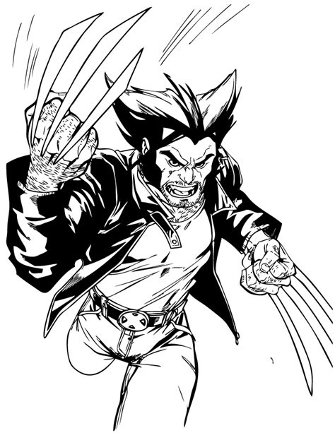 x men wolverine running coloring page h m coloring pages