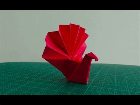 Origami Turkey - how to make a paper umbrella origami doovi