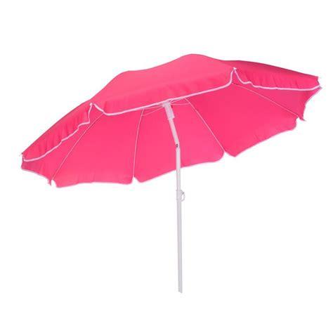 ombrellone da spiaggia inclinabile e classico rosa