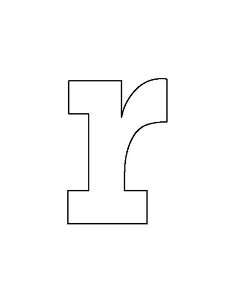letter r template lowercase letter r pattern use the printable outline for