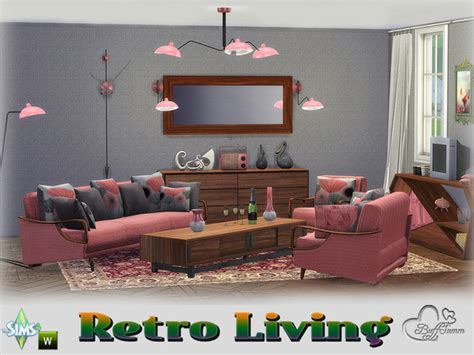 retro livingroom retro livingroom by buffsumm at tsr 187 sims 4 updates