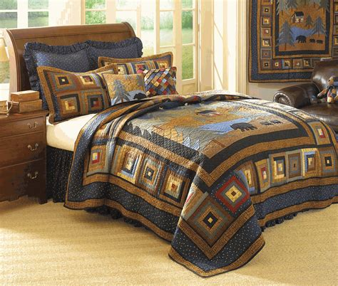 black bear bedding midnight bear quilt king